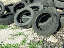 Heap of old tires Royalty Free Stock Image