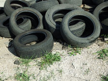 Heap of old tires Royalty Free Stock Images