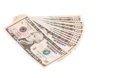 Heap of one dollar bills. Stock Image