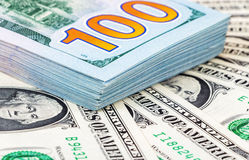 Heap of one hundred american dollar bills Royalty Free Stock Photography