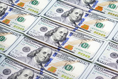 Heap of one hundred dollar banknotes Royalty Free Stock Photography