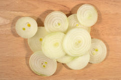 Heap of onion slices Royalty Free Stock Photos
