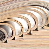 Heap of open magazines Royalty Free Stock Images
