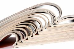 Heap of open magazines Royalty Free Stock Photos