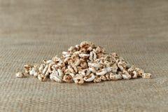 Heap of organic puffed spelt wheat Royalty Free Stock Photos
