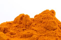 Heap of Organic Raw Curcumin Spice Royalty Free Stock Photos