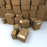 Heap of packages Royalty Free Stock Photos