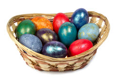 Heap of painted easter eggs Royalty Free Stock Image