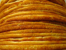 Heap of pancakes. Front macro Royalty Free Stock Image