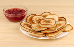 Heap of pancakes Royalty Free Stock Photography