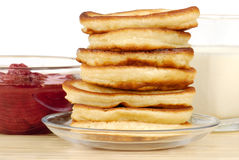 Heap of pancakes Royalty Free Stock Photos