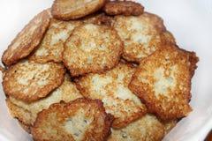 Heap of pancakes from potato Stock Photos