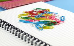 Heap of paperclips Stock Image