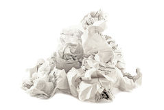 The heap of papers crumpled Royalty Free Stock Photo