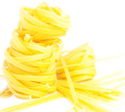 Heap of pasta tagliatelle and noodles Stock Photos