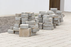 Heap of paving stone Royalty Free Stock Photo
