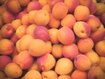Heap of peaches. stock image
