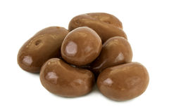 Heap of peanuts covered in chocolate Royalty Free Stock Images