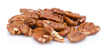 Heap of pecan nuts Royalty Free Stock Photo
