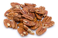 Heap of pecan nuts Royalty Free Stock Image