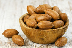 Heap of pecan nuts Royalty Free Stock Images