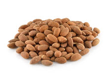 Heap of peeled almond nuts Stock Photo