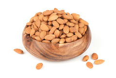 Heap of peeled almond nuts Stock Photography