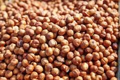 Heap of peeled hazelnuts. Stock Photography
