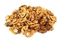 Heap of peeled walnut Stock Images