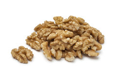 Heap of peeled walnuts Royalty Free Stock Images