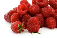 Heap of Perfect Ripe Raspberries Stock Images