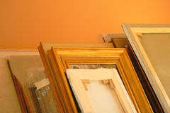 Heap of pictures frames Royalty Free Stock Photo