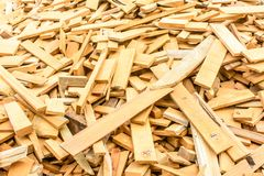 Heap of pieces of wood.  royalty free stock photography
