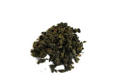 Heap pile of milk oolong green tea isolated on white background Stock Images