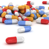Heap of pills Royalty Free Stock Image