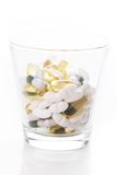 Heap of pills on the table Stock Photo