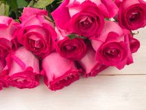 Heap of pink roses Stock Photo