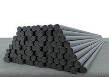 Heap of pipes. 3d rendering heap of metal pipes Royalty Free Stock Photos