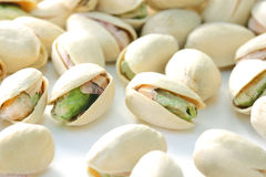 Heap of Pistachios. In shells stock photo