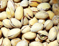 A heap of pistachios. A heap of shelled pistachios Royalty Free Stock Photography