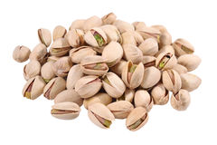 Heap of pistachios on a white background Stock Photography