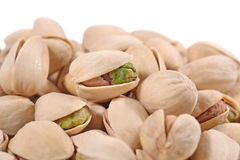 Heap of pistachios on a white background Royalty Free Stock Photo