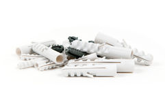 Heap of a plastic dowels Royalty Free Stock Image