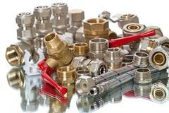Heap plumbing parts Stock Photography