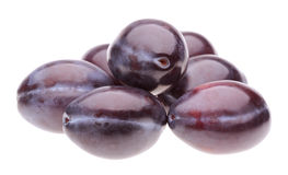 Heap plums. On white background Royalty Free Stock Photography