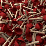 Heap of plungers Royalty Free Stock Images