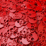 Heap, pool,cluster of red skulls Royalty Free Stock Photography