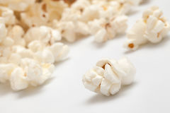 Heap of popcorn. On white background Royalty Free Stock Photo
