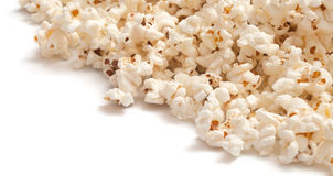 Heap of popcorn. On white background. on a diagonal Stock Photography