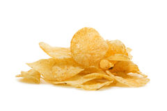 Heap of potato chips Royalty Free Stock Photo